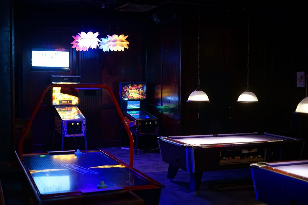 View Bar game room